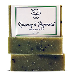 Rosemary Peppermint Hair & Body Bar